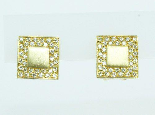 Brincos De Ouro 18k750 Diamantes B756