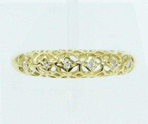 Anel De Ouro 18k750 Diamantes 2168