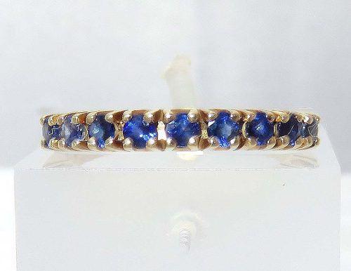 Anel De Ouro 18k750 Safira Azul 1379