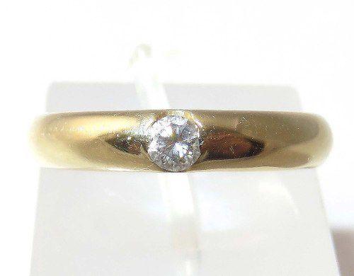 Anel De Ouro 18k750 Diamante Grife Bruner 1344