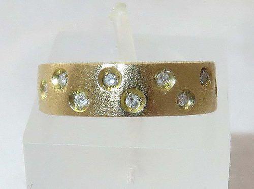 Anel De Ouro18k 750 Diamantes 1319