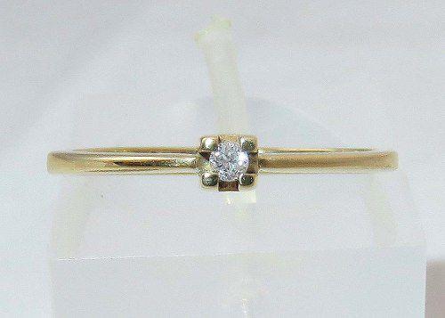 Anel De Ouro 18k750 Diamante 1279