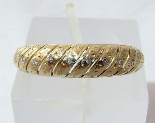 Anel De Ouro 18k750 Diamantes 1278