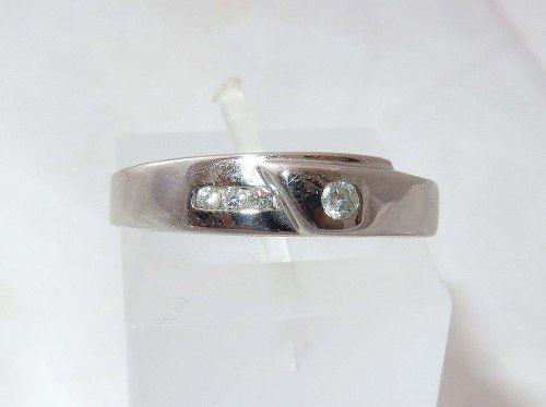 Anel De Ouro Branco 18k750 Diamantes 1277