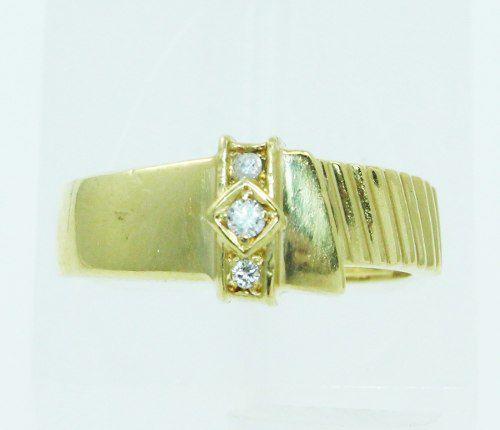Anel De Ouro 18k750 Diamantes 2391