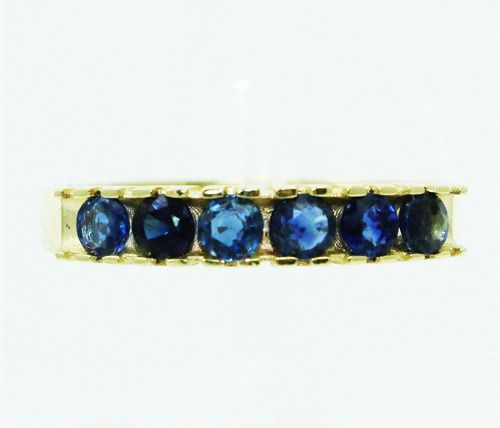 Anel De Ouro 18k750 safiras azuis 2393