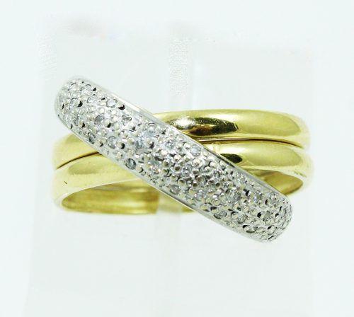 Anel De Ouro 18k750 Diamantes 2400