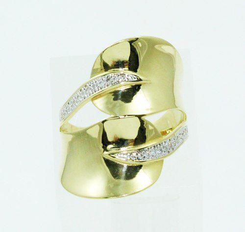Anel De Ouro 18k750 Diamantes 2399
