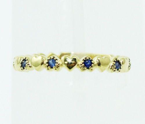 Anel De Ouro 18k750 Safira Azul 2402