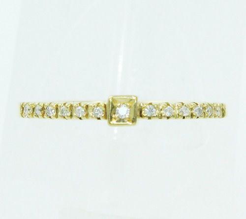 Anel De Ouro 18k750 Diamantes 2412