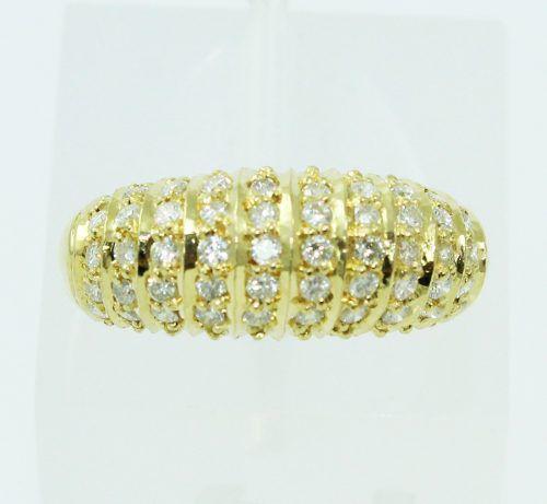 Anel De Ouro 18k750 Diamantes 2414