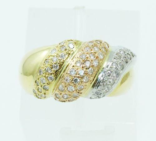 Anel De Ouro 18k750 Diamantes Cores 2420