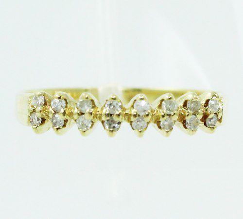 Anel De Ouro 18k750 Diamantes 2417