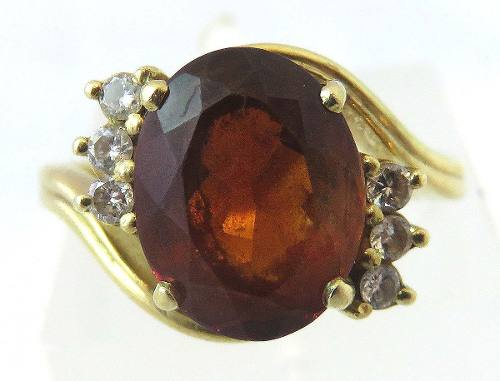 Anel De Ouro 18k750 Diamante Granada 376