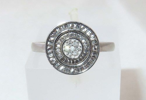 Anel De Ouro Branco 18k750 Diamantes 1267