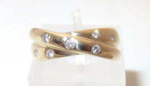 Anel De Ouro 18k750 Diamantes 1240