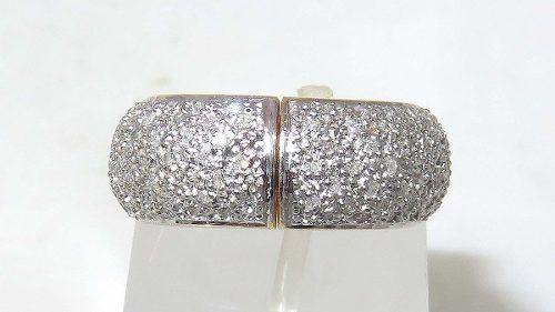 Anel De Ouro 18k750 Diamantes Eu Te Amo 1192
