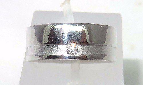 Um Anel Ouro Branco 18k750 Diamante Vivara 1174