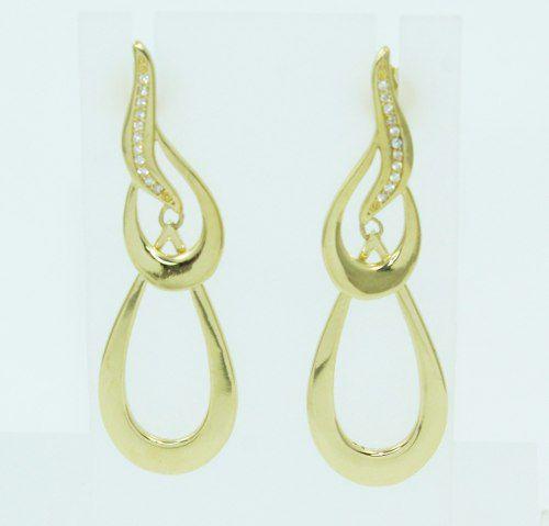 Brincos De Ouro 18k750 Diamantes B854