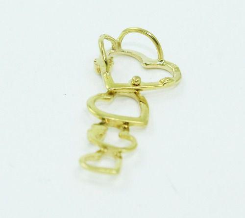 Pingente De Ouro 18k750 Coração Diamantes P679