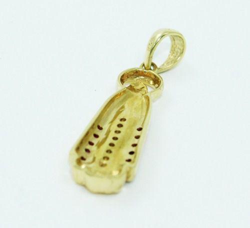 Pingente De Ouro 18k750 Religioso Diamantes P680