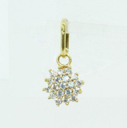 Pingente De Ouro 18k750 Diamantes P685