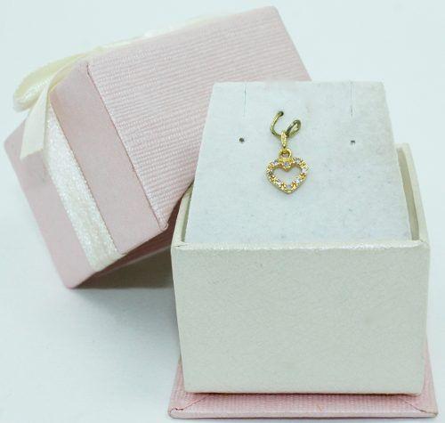 Pingente De Ouro 18k750 Diamantes Coração P688