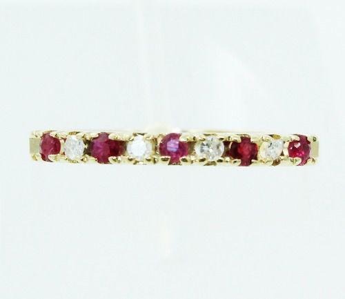 Anel De Ouro 18k750 Diamantes Rubis 2425