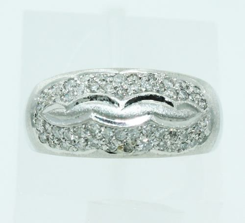 Anel De Ouro 18k750 Diamantes 2430