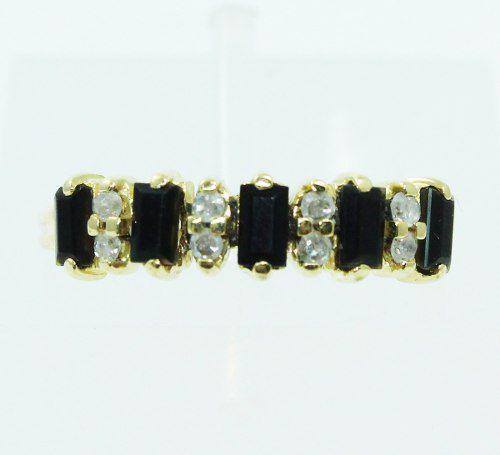 Anel De Ouro 18k750 Diamantes Ônix 2432