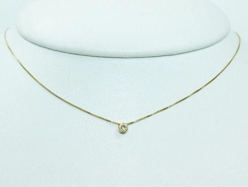 Colar De Ouro 18k75 Diamante C320