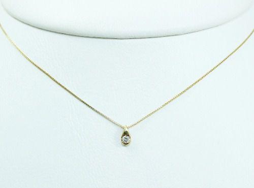 Colar De Ouro 18k75 Diamante C314