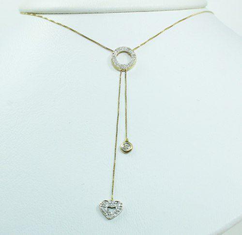 Colar De Ouro 18k75 Diamantes C308
