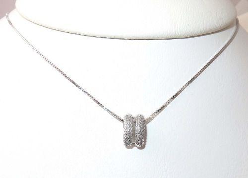 Colar Ouro Branco 18k750 Diamantes Vivara C156