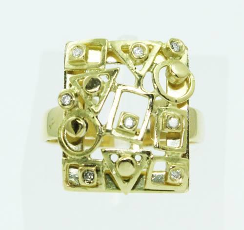 Anel De Ouro 18k750 Diamantes 2434