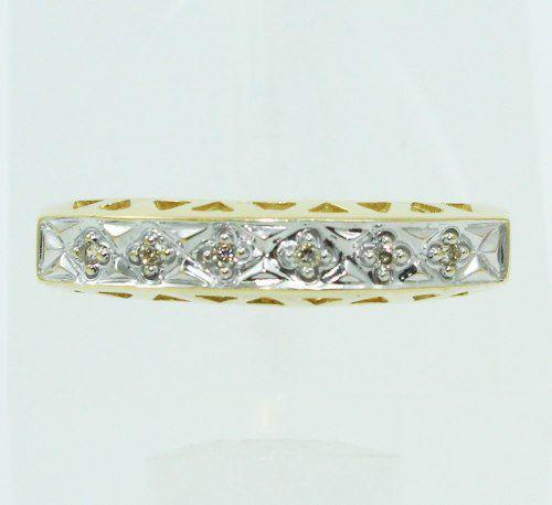 Anel De Ouro 18k750 Diamantes 2441