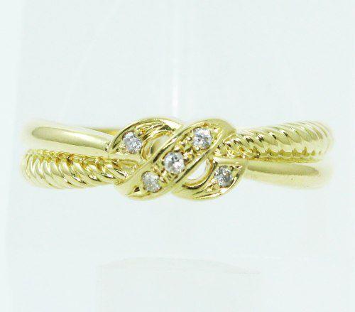 Anel De Ouro 18k750 Diamantes 2443