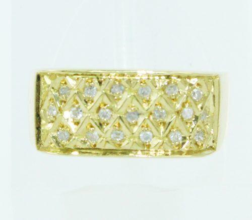 Anel De Ouro 18k750 Diamantes 2445