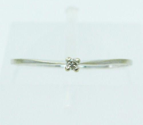 Anel De Ouro 18k750 Diamante 2449