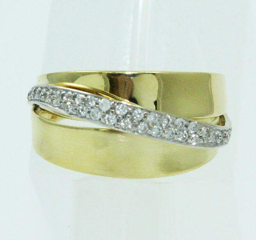 Anel De Ouro 18k750 Diamantes 2448