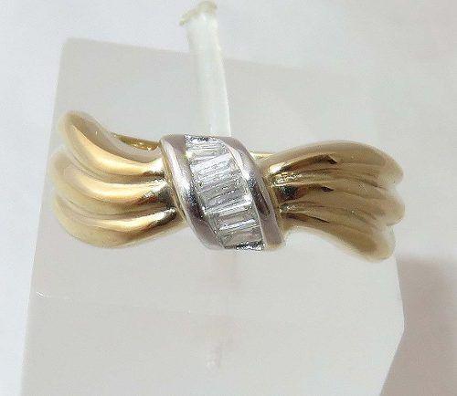 Anel De Ouro 18k750 Diamantes 1133