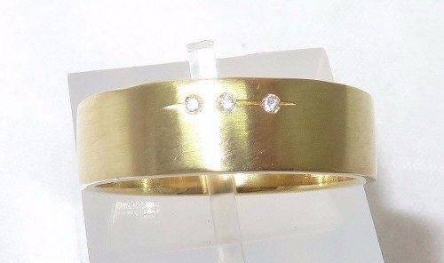 Anel De Ouro 18k750 Diamantes Grife Hstern 1130