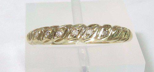 Anel De Ouro 18k750 Diamantes 1140