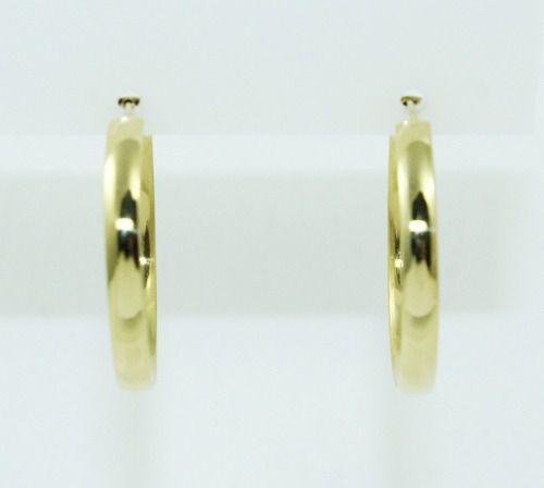 Brincos De Ouro 18k750 Argolas B861