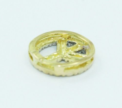 Pingente De Ouro 18k750 Simbolo Da Paz P689