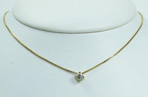 Colar De Ouro 18k75 Diamante C296