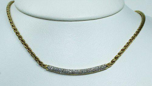 Colar De Ouro 18k75 Diamantes Vivara C275