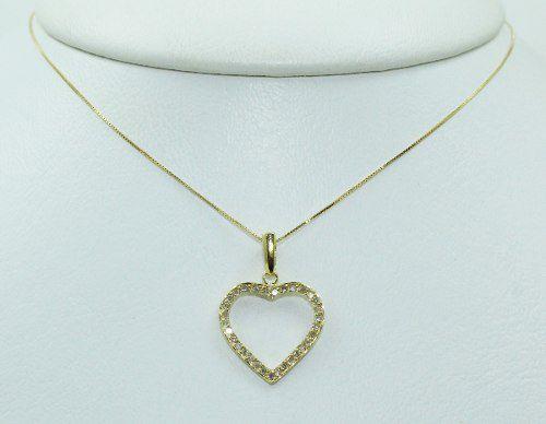 Colar De Ouro 18k750 Diamantes C58