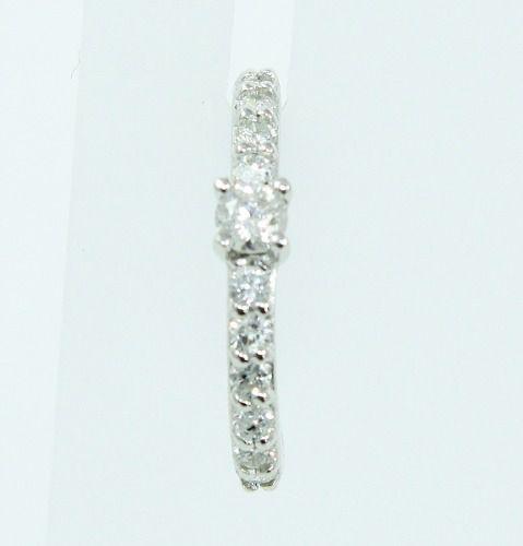 Piercing Ouro Branco 18k750 Pressão Diamante B785