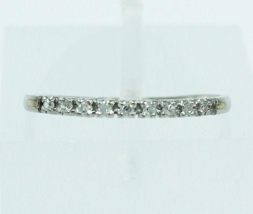 Anel De Ouro Branco 18k750 Diamantes 2139